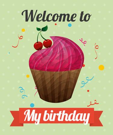 Diseño de invitación de cumpleaños, gráfico de vector ilustración eps10 Foto de archivo - 42023402