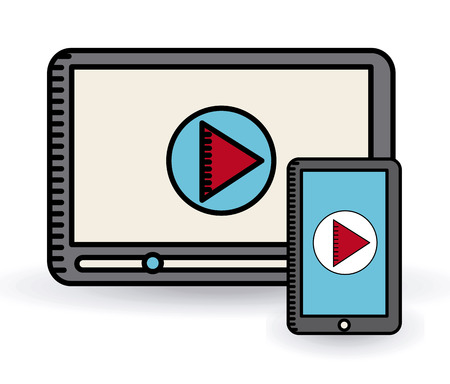 windows media video: player icon design, vector illustration eps10 graphic Illustration