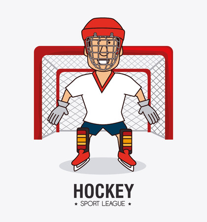 hockey: hockey design and sport background, vector illustration, eps10