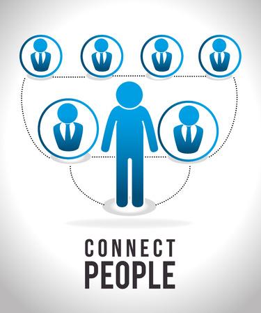 socialising: Gente diseño digital, ilustración vectorial eps 10.