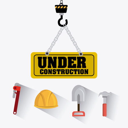 construction machines: Construction digital design, vector illustration eps 10. Illustration
