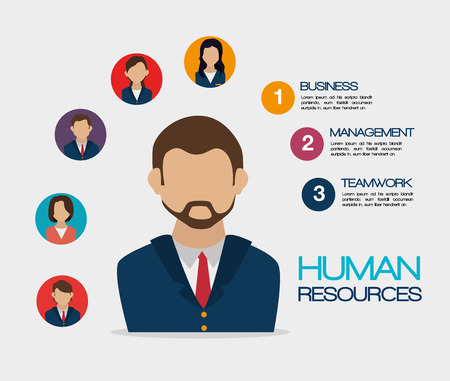 human relations: Human resources design, vector illustration eps 10.