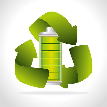 energetics: Battery digital design, vector illustration eps 10. Illustration