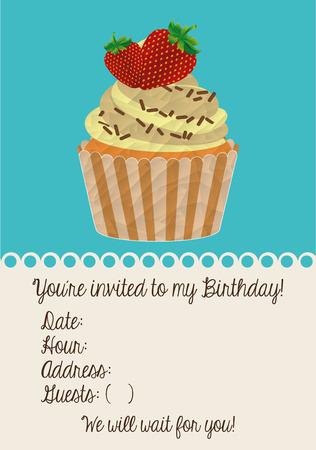 birthday invitation: birthday invitation design, vector illustration eps10 graphic Illustration