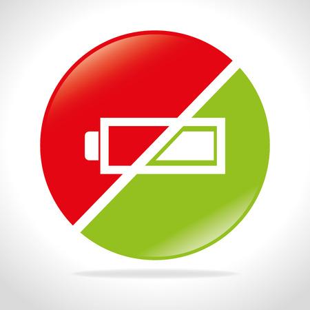 voltmeter: Battery digital design, vector illustration eps 10. Illustration