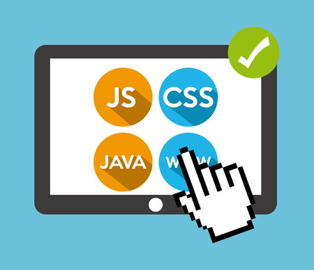 js: programming language design, vector illustration eps10 graphic