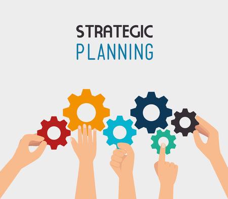 planeaci�n estrategica: Dise�o estrat�gico de planificaci�n, ilustraci�n vectorial eps 10.