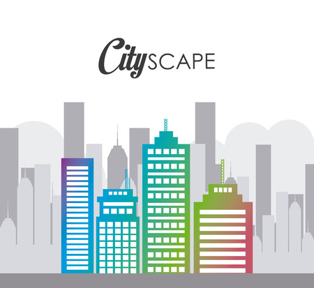 urbanization: Urban digital design, vector illustration eps 10.