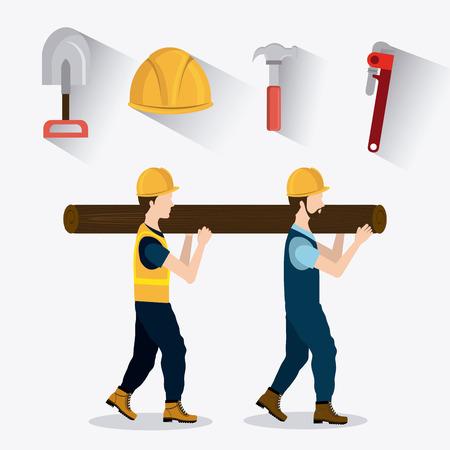 Construction digital design, vector illustration eps 10.