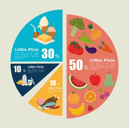 calories: Food design, vector illustration eps 10.