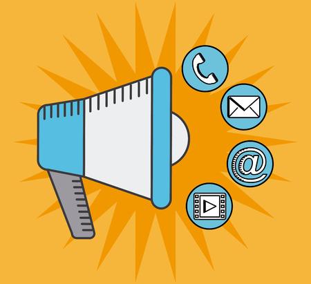 tele communication: social media design, vector illustration eps10 graphic