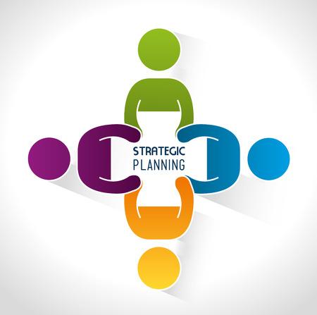 Strategic planning design, vector illustration eps 10.