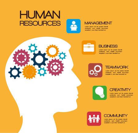 Human resources design, vector illustration eps 10.