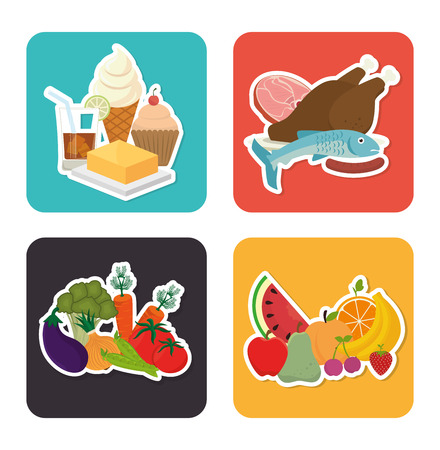 meat food: Food design, vector illustration eps 10.