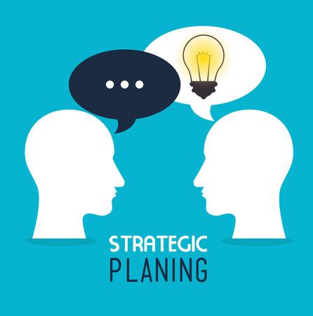 planificacion estrategica: Dise�o estrat�gico de planificaci�n, ilustraci�n vectorial eps 10.