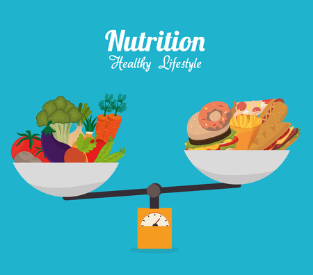balance life: Food design, vector illustration eps 10.