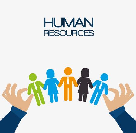 recursos humanos: Diseño de los recursos humanos, ilustración vectorial eps 10.