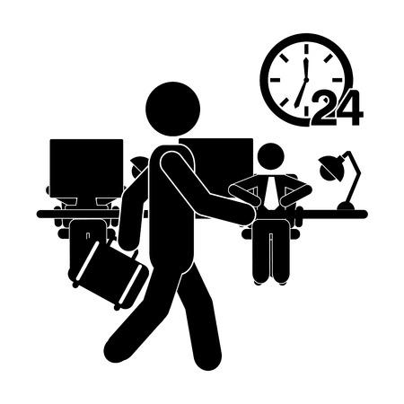 desk work: human activity design, vector illustration eps10 graphic