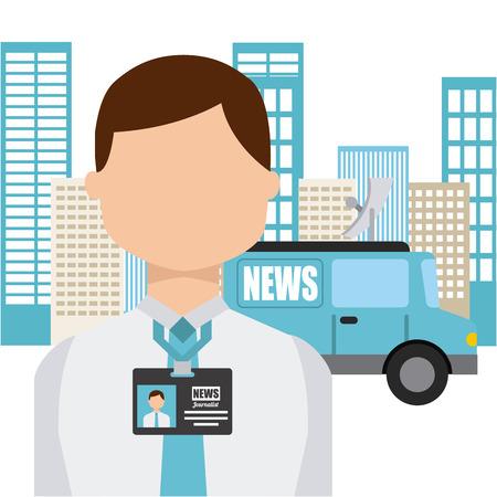 news van: news concept design, vector illustration eps10 graphic Illustration