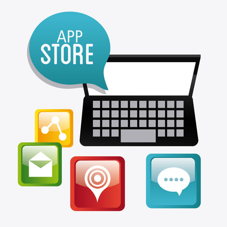 app store: App store digital design, vector illustration eps 10.
