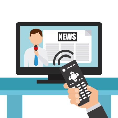 news media: news concept design, vector illustration eps10 graphic Illustration
