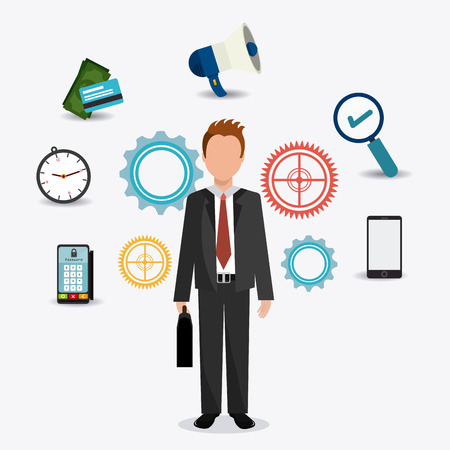 executive search: Business digital design, vector illustration eps 10.