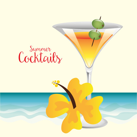 beach party: cocktail drink design, vector illustration eps10 graphic