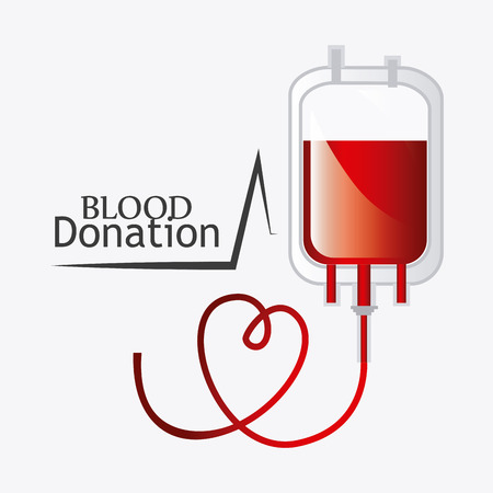 transfusion: Blood donation design, vector illustration eps 10.