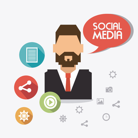 socializing: Social network design, vector illustration eps 10.