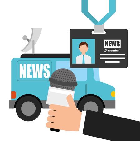 news concept design, vector illustration eps10 graphic Illustration
