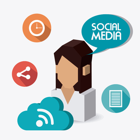 time sharing: Social network design, vector illustration eps 10.
