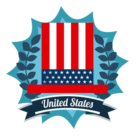 usa flag: usa emblem design, vector illustration eps10 graphic Illustration