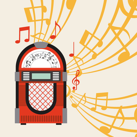 jukebox poster design, vector illustration eps10 graphic Vectores