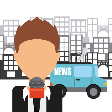 antena: news concept design, vector illustration eps10 graphic Illustration