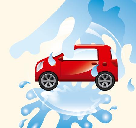 auto washing: car wash service design, vector illustration eps10 graphic