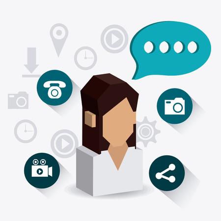 socializando: Social network design, vector illustration eps 10.