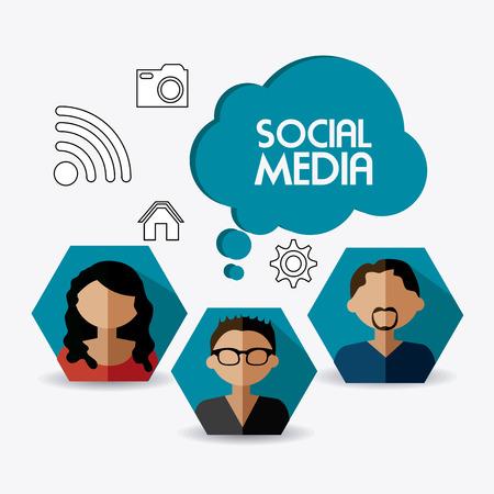 socialising: Diseño de la red social, ilustración vectorial eps 10. Vectores