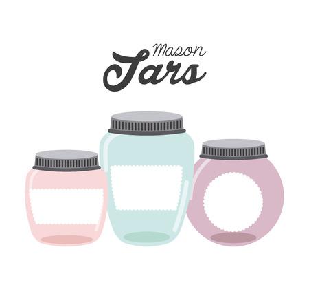 mason: mason jar design, vector illustration   graphic