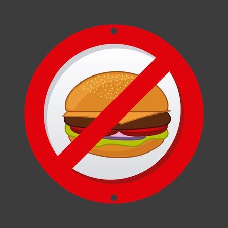 unhealthy: dise�o de alimentos poco saludables, ilustraci�n vectorial gr�fico