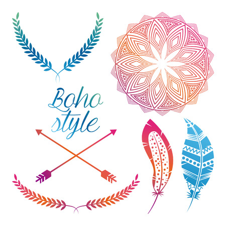 boho: boho style design, vector illustration