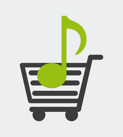 music lyrics: diseño de la música, ejemplo gráfico del vector