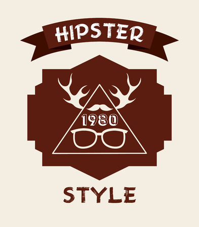 chunk: hipster lifestyle design, vector illustration   graphic Illustration