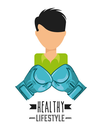 active life: healthy lifestyle design, vector illustration  graphic Illustration