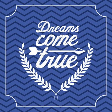 postcard design: dreams postcard design, vector illustration  graphic