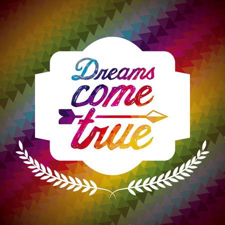 postcard design: dreams postcard design, vector illustration   graphic Illustration
