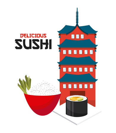 delicious: delicious sushi design, vector illustration