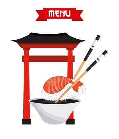 egg roll: delicious sushi design, vector illustration   graphic