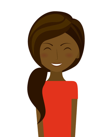 femenine: expression facial design, vector illustration   Illustration