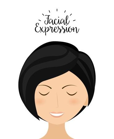 facial expression: expression facial design, vector illustration   graphic