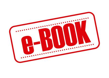 e reader: e-book seal design, vector illustration   graphic Illustration
